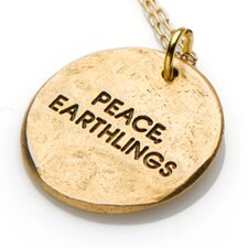 Peace, Earthlings Gold Fine Chain