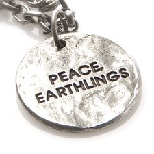 Peace, Earthlings Pewter Medium Chain