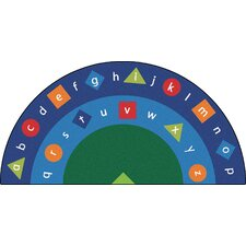 Literacy Alpha Semi-Circle Alphabet Seating Kids Rug