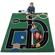 Theme Neighborhood Road Kids Rug