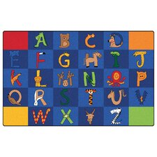 Literacy A to Z Animals Kids Rug