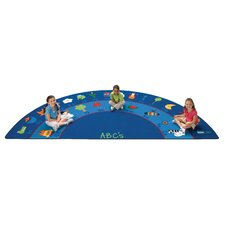 Literacy Fun with Phonics Semi-Circle Kids Rug