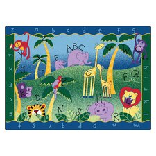 <strong>Carpets for Kids</strong> Literacy Alphabet Jungle Kids Rug