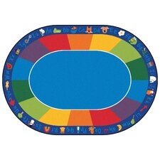 Printed Fun Area Rug with Phonics Horizontal