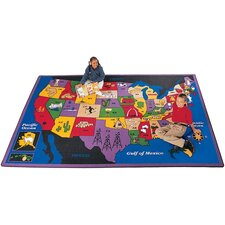 <strong>Carpets for Kids</strong> Geography Discover America Kids Rug