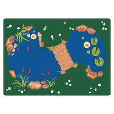 Printed The Pond Kids Rug