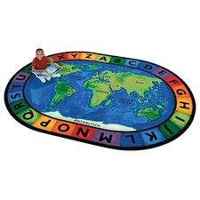 Printed Circletime Around the World Area Rug