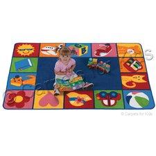 Printed Toddler Blocks Kids Rug
