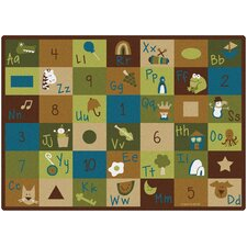 <strong>Carpets for Kids</strong> Learning Blocks Nature Kids Rug