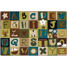 Toddler Alphabet Blocks Kids Rug