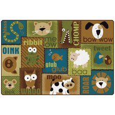 Animal Sounds Kids Rug