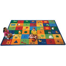 Printed Learning Blocks Kids Rug