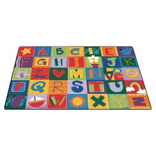 Printed Toddler Alphabet Blocks Kids Rug