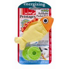 <strong>PetStages</strong> Catnip Refillable Pocket Fish Cat Toy