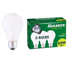 60W 120-Volt (2700K) Incandescent Light Bulb (Pack of 3)
