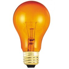 Transparent Orange (2700K) Incandescent Light Bulb (Pack of 12)