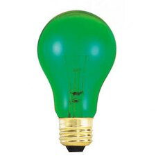 <strong>Bulbrite Industries</strong> 25W A19 Bulb in Transparent Green