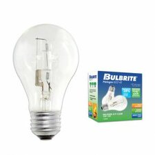 <strong>Bulbrite Industries</strong> 72W A19 Halogen Bulb in Clear (Pack of 2)