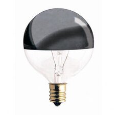 <strong>Bulbrite Industries</strong> 40W Half Chrome G16.5 Globe Shape Bulb