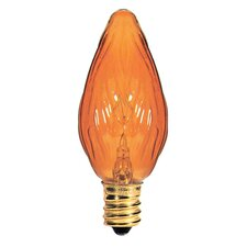 Candelabra Amber 130-Volt (2700K) Incandescent Light Bulb (Part of 8)