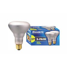 65W 130V Incandescent BR30 Indoor Reflector Flood Light Bulb in Clear (Pack of 2)