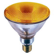 90W Amber 120-Volt Halogen Light Bulb