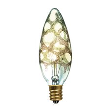 Crystal 25W Amber Marble Incandescent Light Bulb (Set of 5)