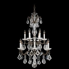 La Scala Rock Crystal 12 Light Chandelier