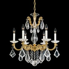 La Scala 6 Light Chandelier with Crystal
