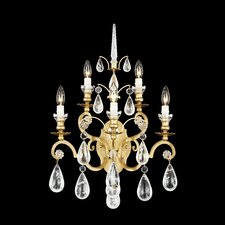 Versailles Rock Crystal Five Light Wall Sconce