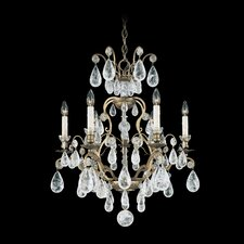 Versailles Rock Crystal 6 Light Chandelier