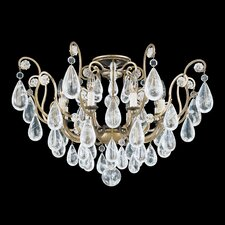 Versailles Rock Crystal 8 Light Semi Flush Mount