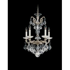 La Scala Rock Crystal 5 Light Chandelier