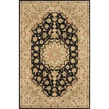 <strong>Continental Rug Company</strong> Silk Pearl Black/Light Gold Rug