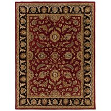 Meadow Breeze Burgundy/Black Rug