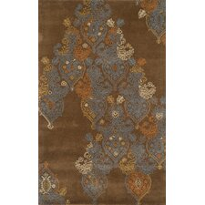Edge Dark Brown Rug