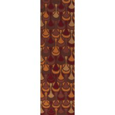 Voyages Chocolate/Burnt Orange Rug