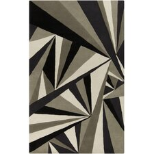 Destinations Coal Black & Oyster Grey Area Rug