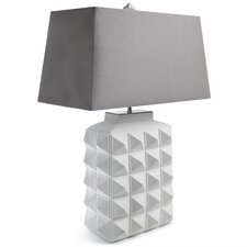 "Charade Studded 23.4"" H Table Lamp with Rectangle Shade"