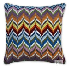 Bargello Flame Wool Pillow