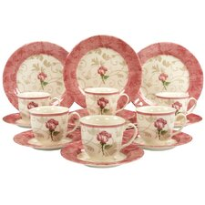 "18-tlg. Kaffeeservice Set ""Damask Pink Rose"""