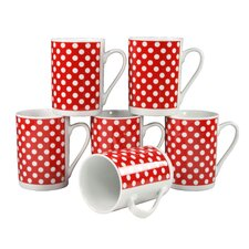 "0,33L Kaffeebecher ""Classic"" in Punkte-Dekor (6er Pack)"