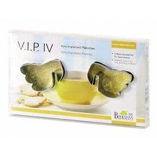 """Tassenkeks-Ausstecher """"V.I.P.IV"""" (2er Pack)"""
