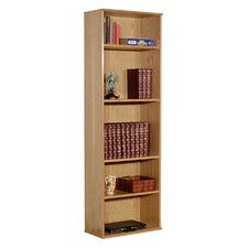 "Heirloom 73.5"" H Bookcase in Oak Veneer"
