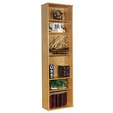 "Heirloom 85.5"" H Bookcase in Oak Veneer"