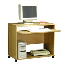 "<strong>Rush Furniture</strong> Heirloom 36"" W Computer Cart in Oak Veneer"