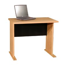 "Modular Real Oak Wood Veneer 36"" W Panel Office Desk"