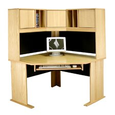 "<strong>Rush Furniture</strong> Modular 36"" H x 48"" W Panel Corner Desk Hutch"