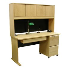 "<strong>Rush Furniture</strong> Modular 36"" H x 60"" W Panel Desk Hutch"