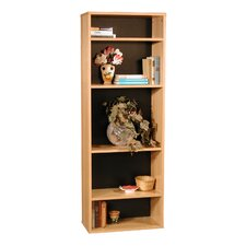 "Modular Real 65.5"" H Bookcase in Oak Wood Veneer"